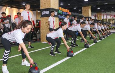 西安567go健身教练培训学校-学生上课